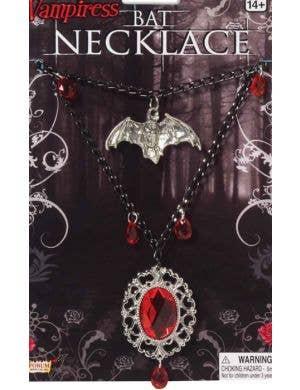 Vampiress Bat Necklace Halloween Jewellery