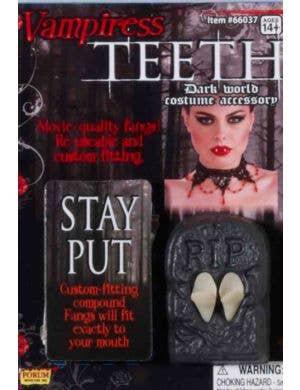 Vampiress Fangs Halloween Costume Accessory