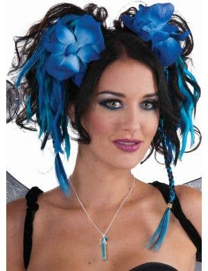 Fantasy Fairy Blue Floral Hairpiece