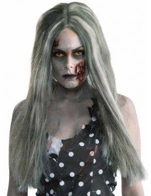 Women's Zombie Grey Halloween Costume Wig