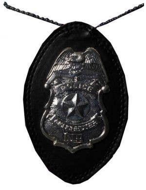 Police Badge On Chain Costume Accessory