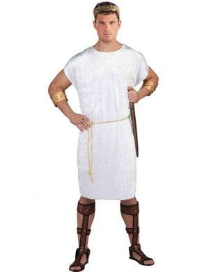 Menu0027s Basic White Greek or Roman Costume Tunic ...  sc 1 st  Heaven Costumes & Ancient Times Fancy Dress Costumes | Heaven Costumes Australia