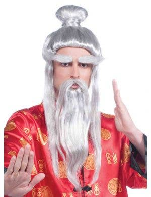 Martial Arts Master Men's Japanese Costume Wig