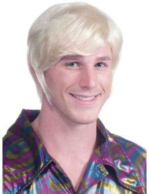 Men's 70's Guy Short Blonde Costume Wig