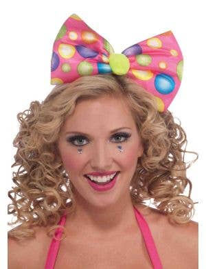 Circus Sweetie Big Bow Headband