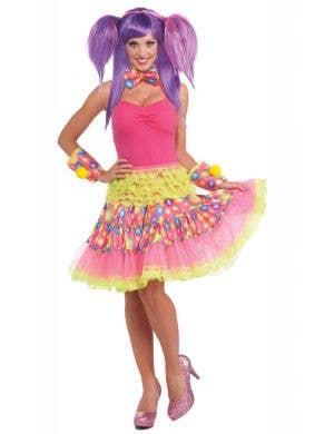 Circus Sweetie Rainbow Ruffled Skirt