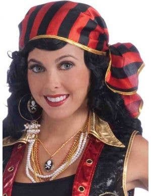Buccaneer Beauty Striped Pirate Headscarf