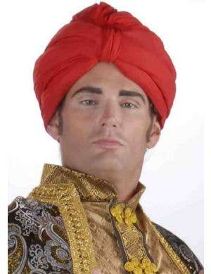Deluxe Red Maharaja Indian Turban Costume Hat
