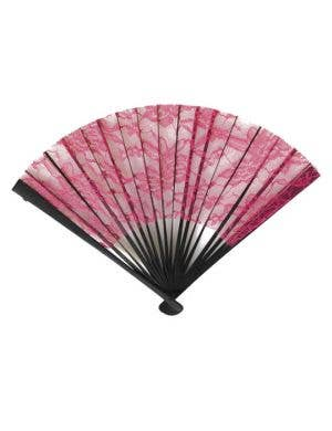 Hand Held Pink Lace Costume Fan