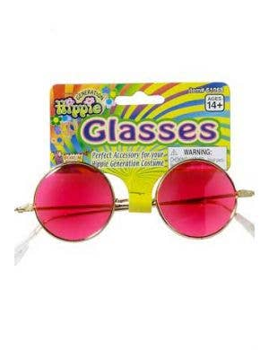 Groovy Baby Pink Hippie Glasses