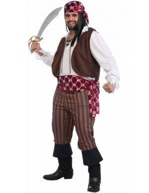 Shipwrecked Men's Plus Size Pirate Costume