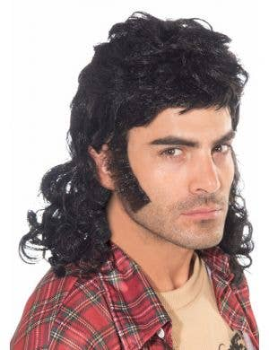 80's Mullet Man Wig - Black