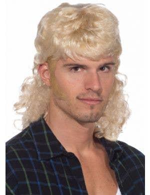 80's Mullet Man Wig - Blonde