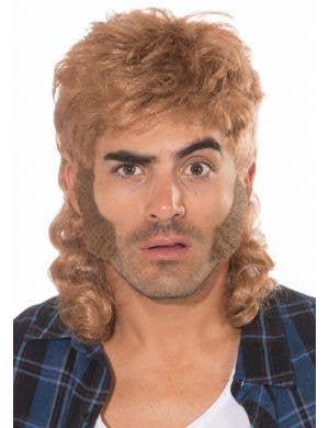 80's Mullet Man Wig - Light Brown