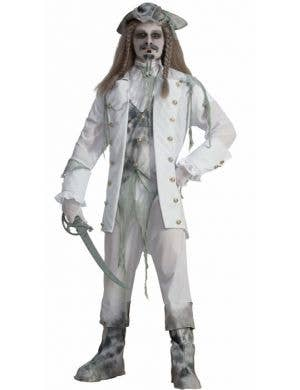 Men's Ghost Pirate Captain Halloween Costume Front