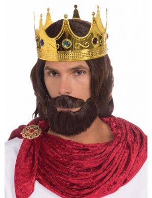 Royal King Men's Wig and Beard Costume Accessory Set