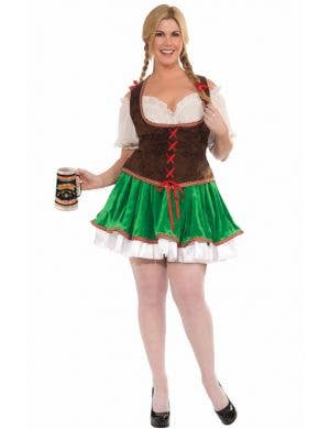 Beer Garden Girl Plus Size Oktoberfest Costume