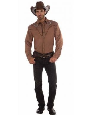 Deluxe Men's Brown Western Shirt