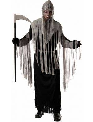 Men's Haunted Grim Reaper Halloween Costume Robe Front
