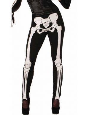 Skeleton Print Halloween Costume Leggings