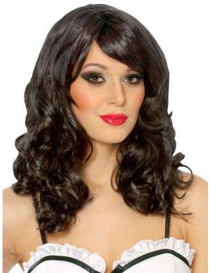 Lolita Women's Long Curly Black Costume Wig