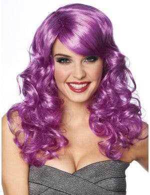 Lolita Women's Purple Mid Length Curly Costume Wig