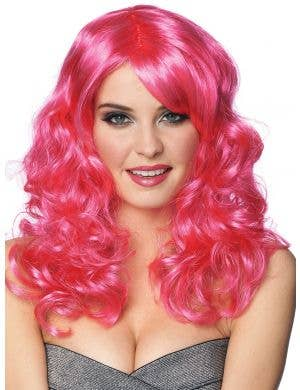 Lolita Women's Hot Pink Curly Costume Wig