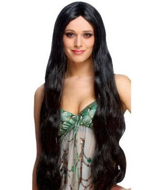 Atlantis Extra Long Women's Black Costume Wig