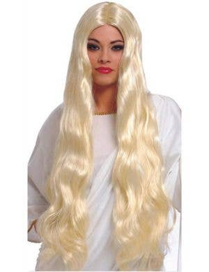Atlantis Women's Extra Long Blonde Costume Wig