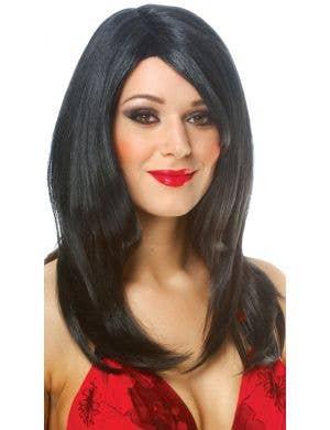 Sharon Women's Long Black Costume Wig
