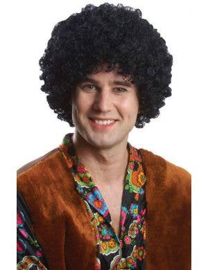 Budget Black 1970's Costume Wig For Adult's