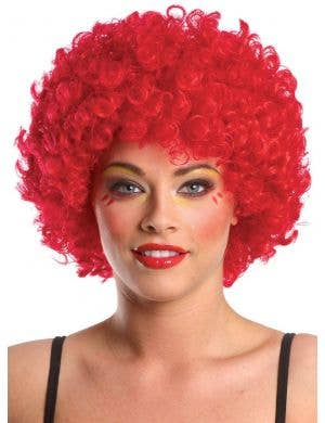 Bright Red Adult's Afro Wig Costume Accessory