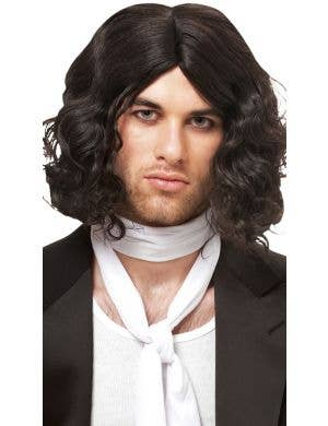 Bad Boy Men's Short Curly Black Costume Wig