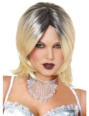 Evil Bride Women's Short Blonde Halloween Wig