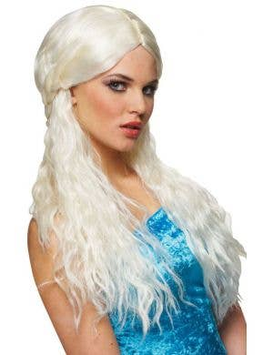 Barbarian Bride Women's Long Platinum Blonde Wig