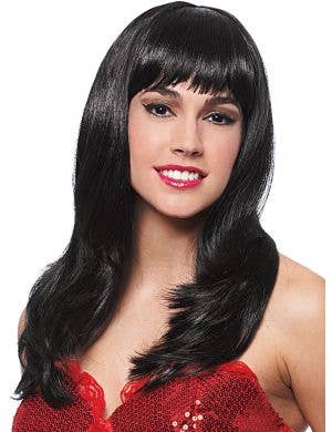 Donna Women's Black Costume Wig with Fringe