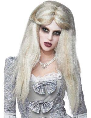 Women's Grey Zombie Costume Wig