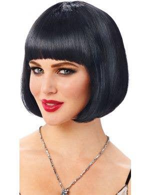 Classic Women's Short Black Bob Costume Wig