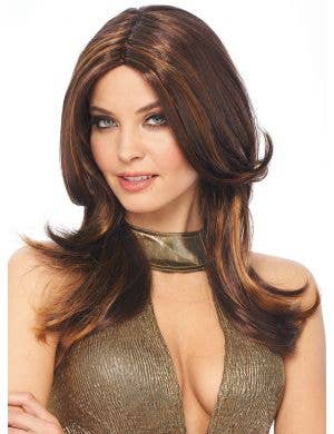 Layered Dark Brown Women's 1970's Costume Wig
