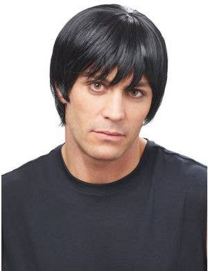 Natural Black Men's Classic Short Costume Wig