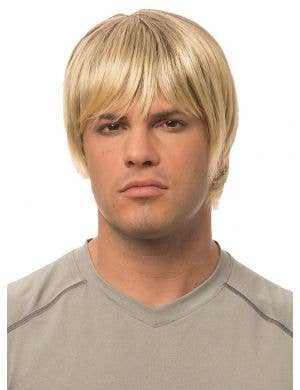 Natural Blonde Men's Classic Short Costume Wig