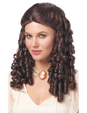 Southern Belle Brown Curly  Women's Costume Wig