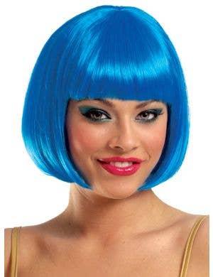 Sassy Short Bright Blue Bob Women's Costume Wig