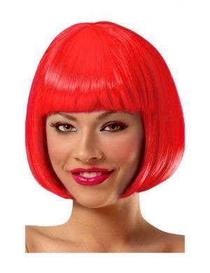 Sassy Short Bright Red Bob Women's Costume Wig