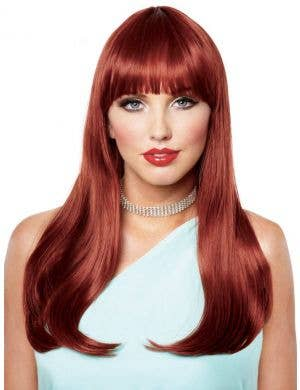 Mistress Deluxe Women's Long Red Costume Wig