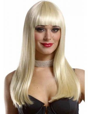 Mistress Deluxe Women's Long Blonde Costume Wig