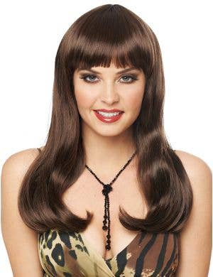 Mistress Deluxe Women's Long Brown Costume Wig