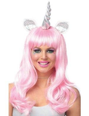 Magical Unicorn Pastel Pink Curly Costume Wig