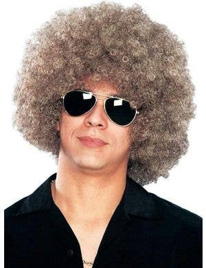 Mixed Blonde Unisex Afro Costume Wig