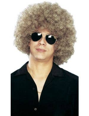 Mixed Blonde Unisex Afro Costume Wig